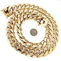 1.5 Kilo Miami Cuban Link Chain 14K Solid Gold Necklace