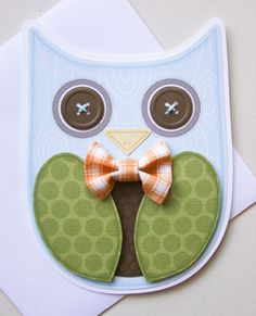 Items similar to Boy Owl Invitations on Etsy Owl Crafts, Paper Crafts, Easy Crafts, Christmas Photo Cards, Kids Christmas, Party On Garth, Owl Invitations, Owl Card, Paper Owls