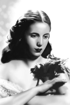 Eva Duarte (Perón) as a young actress.