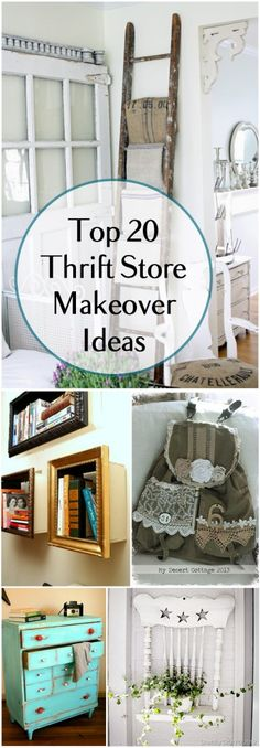 Who else loves a good thrift store makeover? If you like to revamp furniture you've found at the thrift store, try these DIY thrift store makeover ideas. 20 Amazing Thrift Store Makeover Ideas, Projects and Tutorials Diy Furniture Flip, Thrift Store Furniture, Repurposed Furniture, Furniture Makeover, Bar Furniture, Classroom Furniture, Simple Furniture, Furniture Plans, Dresser Makeovers
