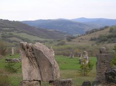 A secluded field of sculptures in rural Slovakia