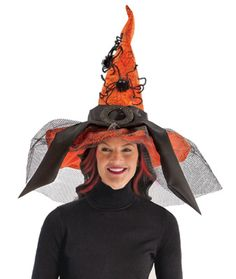 Easy Halloween costumes for Women - A fantastic Witch's Hat with Black Tulle Trim - This is our go-to Costume accessory for when we can't come up with anything else!