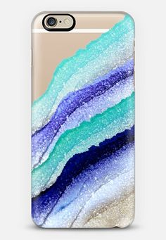 FLAWLESS WAVES AQUA & BLUE by Monika Strigel iPhone 6 case by Monika Strigel | Casetify
