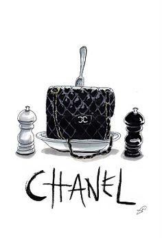 Chanel bag illustration by Achraf Amiri Chanel Fashion, Fashion Art, Fashion Design, Parfum Chanel, Bag Illustration, Dont Touch Me, Moda Chic, Perfume, Sketch Design