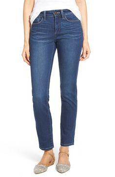NYDJ 'Samantha' Stretch Slim Straight Leg Jeans (Echo Valley) (Regular & Petite) available at #Nordstrom