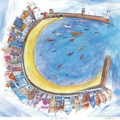 St Ives Harbour by Laura Hughes