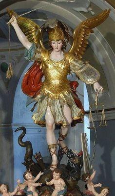 Kunst Online, Pictures Of Jesus Christ, Archangel Michael, Angel Art, Celestial, St Michael, Michel, Catholic, Saints
