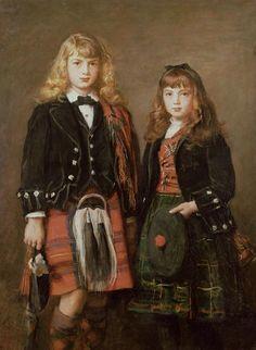 Deux Bairns, by John Everett Millais