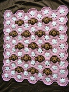 crochet monkey blanket pattern wonderfuldiy1 Cute Crochet Monkey Blankets for Babies