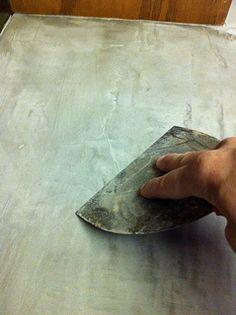 DIY Concrete Countertops Over Existing Laminate Countertops.