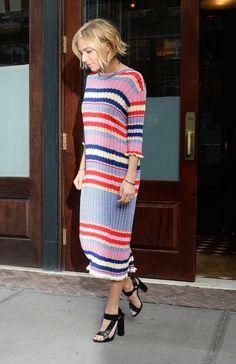 Sienna Miller in the world's cutest sweaterdress