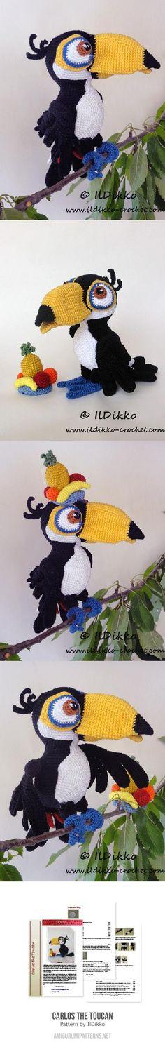 Carlos The Toucan Amigurumi Pattern