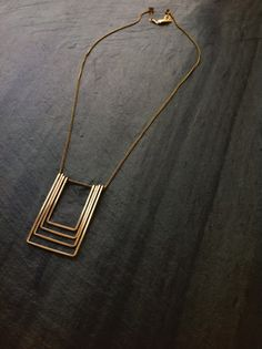 Hey, I found this really awesome Etsy listing at https://www.etsy.com/listing/499903730/gold-geometric-senza-necklace-loop