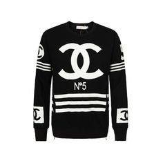 Rebel Paradise Chanel PullOver Unisex Online Store Powered by Storenvy ❤ liked on Polyvore featuring tops, sweaters, chanel sweater, chanel, sweater pullover, pullover sweaters and unisex tops