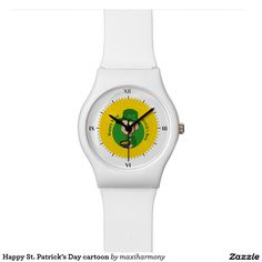 Happy St. Patrick's Day cartoon Watches