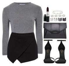 """""""50 shades of gray"""" by daisym0nste ❤ liked on Polyvore featuring Glamorous…"""