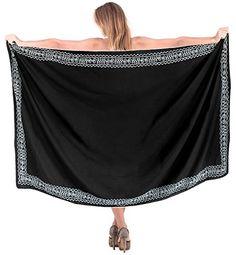 05255e54883b0 La Leela Women Beachwear Bikini Cover up Wrap Skirt Pareo Dress Swimwear  Sarong Solid 16 ONE Size at Amazon Women s Clothing store
