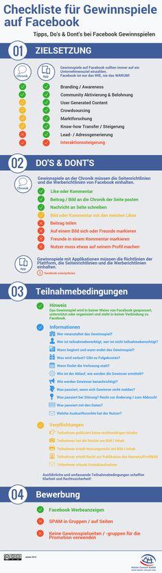 Checkliste für Gewinnspiele auf Facebook (Quelle: Hutter Consult GmbH)
