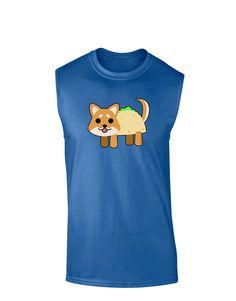 TooLoud Cute Taco Dog Dark Muscle Shirt