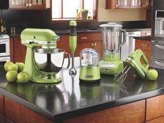 Kitchen Aid Appliances in Apple Green!