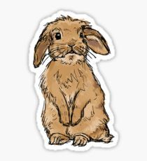 Rabbit without Banner Pegatina