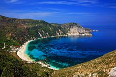 This photo from Kefalinia, Ionian Islands is titled 'Homeric beach'. Travel Log, Greece, Beautiful Places, Scenery, Europe, Earth, Island, World, Water