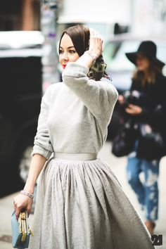 maxi skirts and sweaters