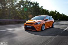 #Ford #Focus #ST Electric Orange mk2