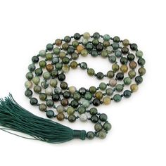 Indian Agate Hand Knotted Mala (108 Beads)