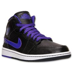 Men's Air Jordan 1 Retro '86 Basketball Shoes | Finish Line | Black/Dark Concord/White
