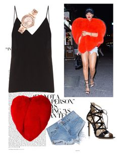 A fashion look from December 2016 featuring v neck cami, red cape and ripped shorts. Browse and shop related looks. Ripped Shorts, Rihanna, Yves Saint Laurent, Camisole Top, Fashion Looks, Michael Kors, Tank Tops, Polyvore, Stuff To Buy
