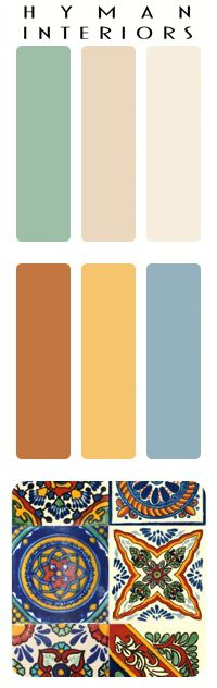 Mexican Tiles Color Palette