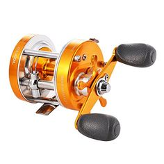 Isafish Baitcasting Reels Conventional Inshore and Offshore Saltwater and Freshwater Fishing Reels Baitcaster Golden Color