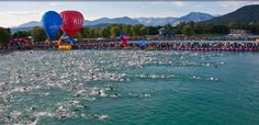 Ironman Austria Swim Start.