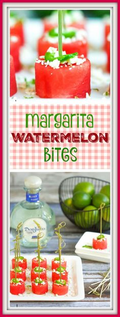 Salty, spicy, boozy...these margarita watermelon bites are summer treats for the over 21 crowd.