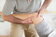 Chiropractor massaging a patient's knee - Stock Photo , Neuromuscular Therapy, Dry Needling, Muscle Imbalance, Sciatica Relief, Workout List, Sports Massage, Body Tissues, Massage Techniques, Knee Injury