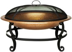 $139 Copper-Plated Fire Bowl - Outdoor Firepits And Fireplaces - Outdoor Firepits And Heaters - Outdoor | HomeDecorators.com