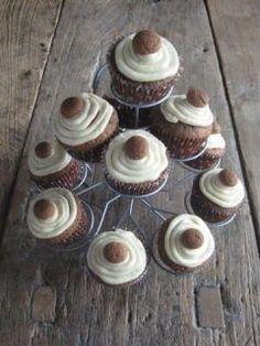 Sint-Knutsel idee: Speculaascupcakes met pepernoot