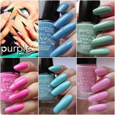 Betty Nails: Purple Professional - Summer Collection- Swatches and Review - Part 1/3 - Pastel Colors (59-63)