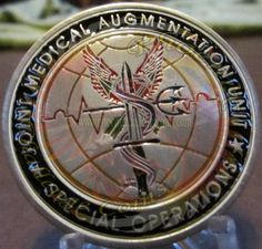 JSOC Challenge Coin, JSOMAU  Joint Special Operations Medical Augmentation Unit custom challenge coin done by Phoenix Challenge Coins
