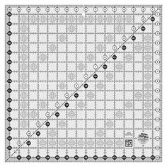 """Creative Grids Quilting Ruler 16 1/2 Inch Square. Easy-to-read black & white markings. 1"""" grid with 1/8"""" and 1/4"""" increments."""