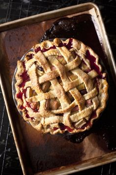 Here's a rhubarb pie recipe for you to make at home, complete with vanilla ice cream! #BoundariesALoveStory