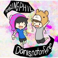 YouTube YouTuber Dan Howell danisnotonfire Phil Lester amazingphil ❤ liked on Polyvore featuring youtube, anime, dan and phil and other