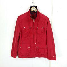e24074073fb4b2 TOMMY HILFIGER Jacket Small Women Vintage 90 s Tommy Jeans Hip Hop Tommy Red  Windbreaker Sportswear Tommy Sport Jacket Size S