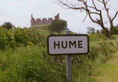 Hume castle in the background. Someday, I'll get to Scotland