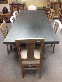Reclaimed Pine And Metal Topped Industrial Style Dining Table In Home,  Furniture U0026 DIY,