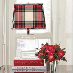 I'm Loving Tartan Plaids for Some Reason. Sit down and have a cozy read by the glow of your tartan Lampshade Tartan Plaid, Home Design, Style Anglais, Tartan Christmas, Christmas Time, Coastal Christmas, Decoration Entree, Plaid Decor, Scottish Plaid