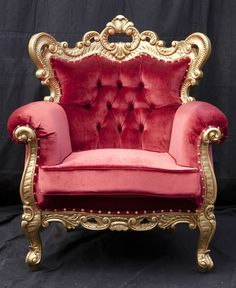 BRAND NEW Kings Chair Throne French Provincial Shabby Chic Gold Chair rustic