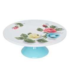 painterly rose cake stand. it looks so vintage