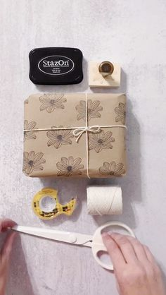 Forgot to grab gift wrap at the store -- or you only have that weird one from Christmas? No worries. Creating DIY gift wrap is easy Diy Gifts Cheap, Easy Handmade Gifts, Handmade Christmas Gifts, Diy Christmas Gifts Videos, Diy Gifts Videos, Handmade Skirts, Handmade Soaps, Creative Gift Wrapping, Creative Gifts